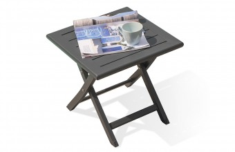 Table basse pliante en aluminium ANTHRACITE