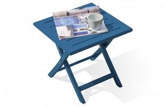 Table basse pliante en aluminium BLEU