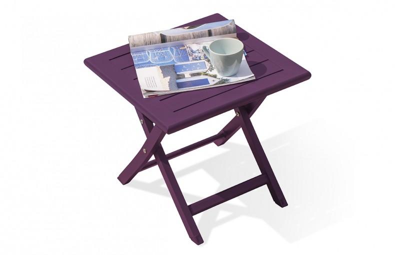 Table basse pliante en aluminium AUBERGINE