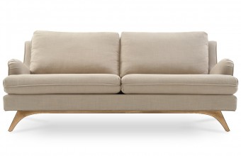 Canapé 3 places en lin beige