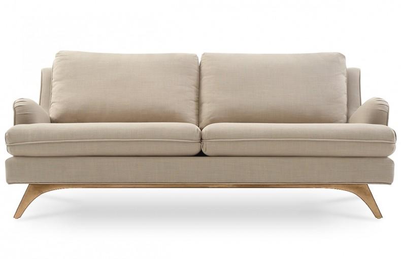 Canapé scandinave en lin beige