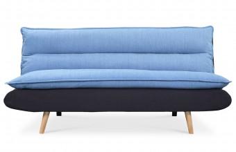 Canapé convertible design scandinave bleu