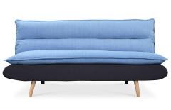 Canapé convertible scandinave bleu et noir