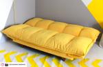 Canapé convertible design scandinave jaune