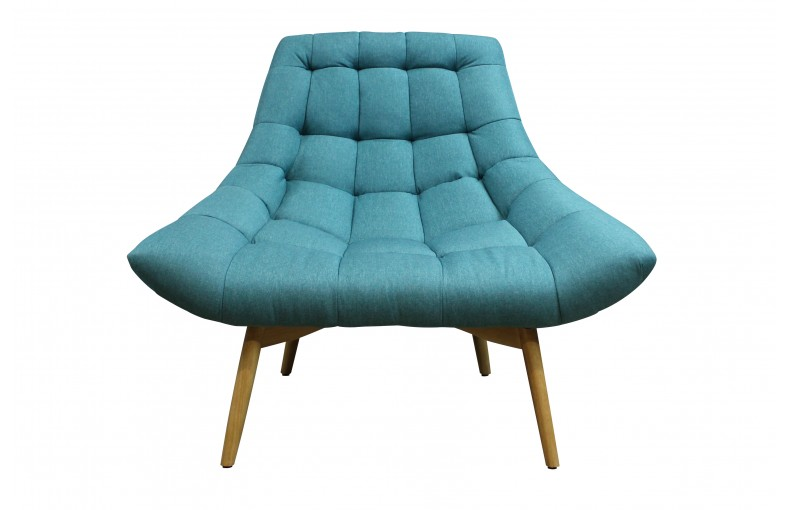 Fauteuil au design cosy turquoise