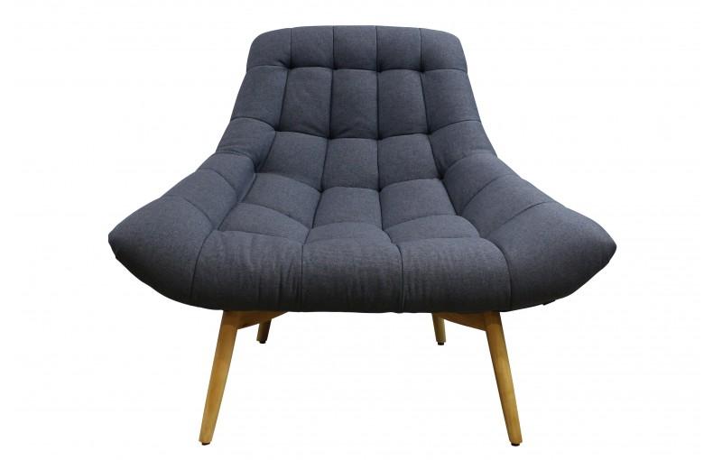 Fauteuil design au look cosy gris anthracite