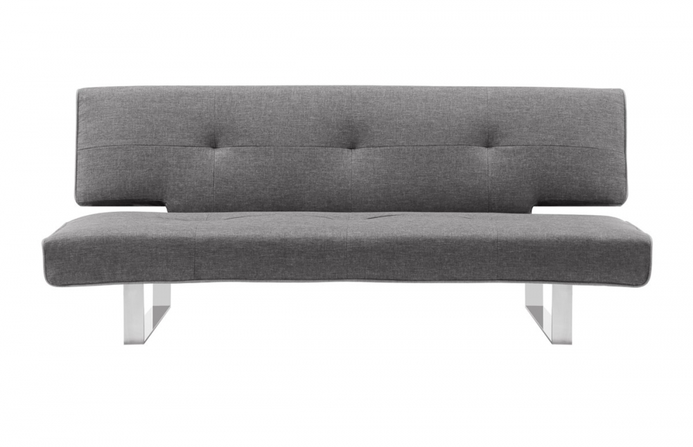 canap convertible en lin gris clair pi ce vivre. Black Bedroom Furniture Sets. Home Design Ideas