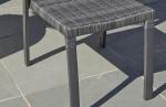 Chaise aluminium et résine tressée gris anthracite