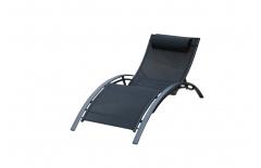Chaise longue noire