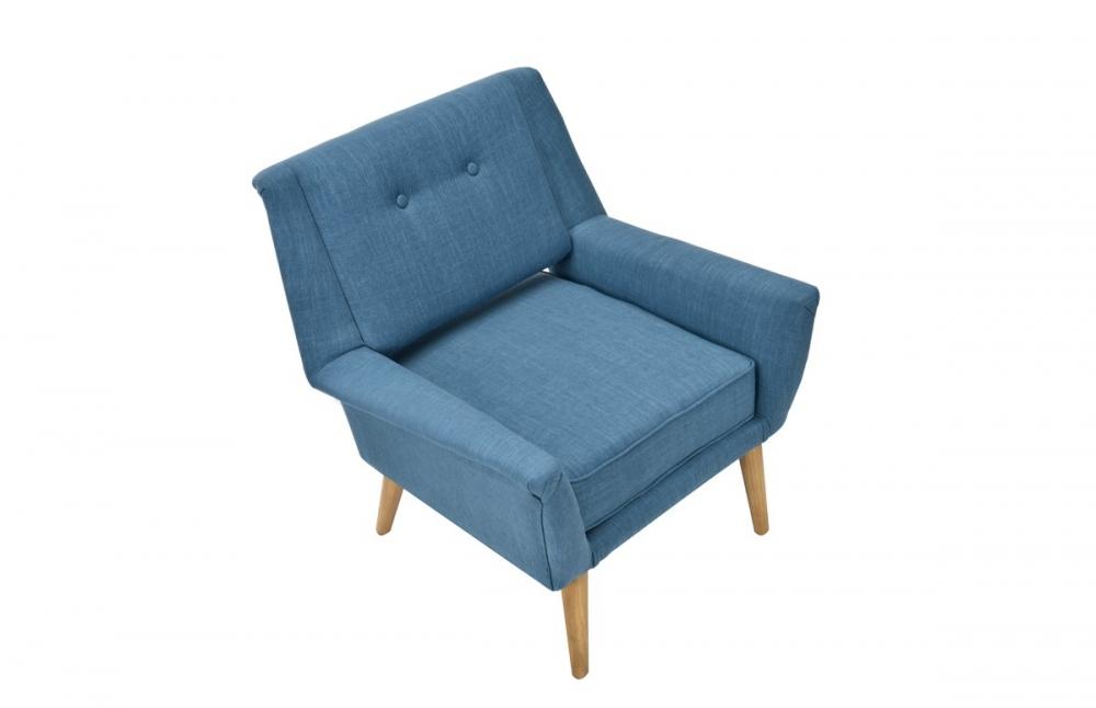 fauteuil design r tro bleu canard pi ce vivre. Black Bedroom Furniture Sets. Home Design Ideas