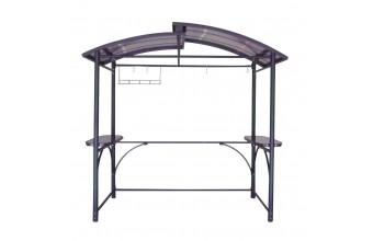 Abri barbecue 2,40X1,5m en aluminium et polycarbonate