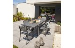 Table de jardin COPENHAGUE moderne avec rallonge intégré