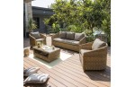 Salon HAVANA 5 places : 1 table basse + 1 canapé 3 places + 2 fauteuils  - MIEL