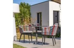 Set de jardin en aluminium 2 places, Gabin Alana