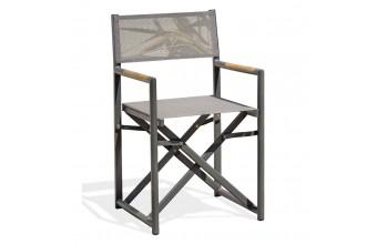 Fauteuil de jardin aluminium et textilène, Honfleur