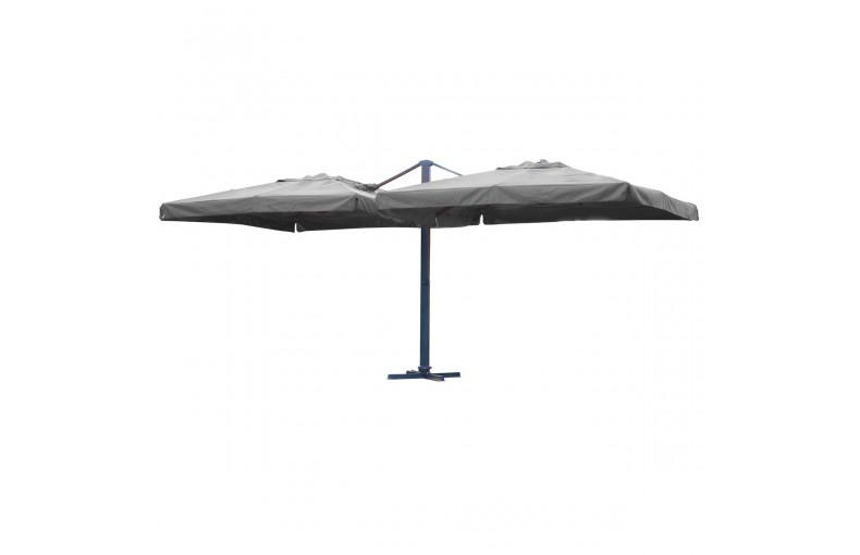 Parasol aluminium et polyester 2 toiles, Ibiza