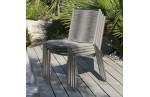 Chaise de jardin inox et corde, Livorno