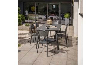 Set de jardin en aluminium 6 places, Madelia