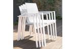 Fauteuil en textilène blanc et aluminium