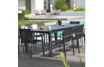 Table de jardin en aluminium 10-12 places, Miami