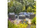 Salon de jardin 8 places NOUMEA en résine tressée - GRIS