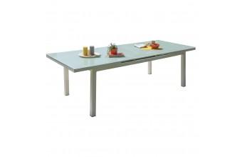 Table de jardin aluminium et verre, Mykonos