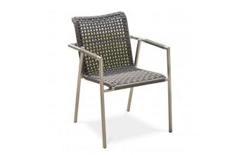 fauteuil de jardin DEAUVILLE moderne en corde tressée
