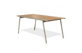 Table de jardin inox et HPL, Concarneau