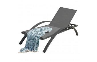 Chaise longue BARCELONA en aluminium et  textilène