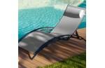Chaise longue en aluminium  et textilène