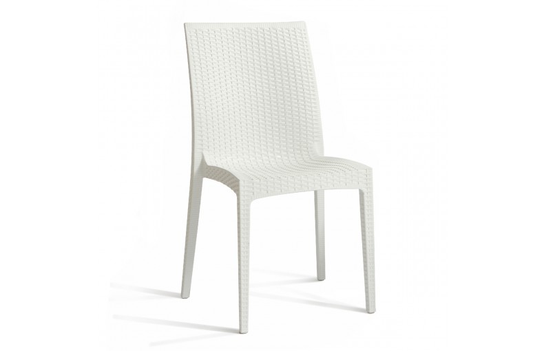 Chaise de jardin en BLANC empilable