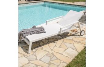 Chaise longue en aluminium, Ibiza
