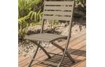 Chaise de jardin en aluminium, Marius
