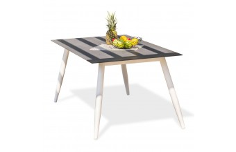 Table SCANDI 160x90cm en spraystone et aluminium