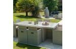 Salon de jardin encastrable 8 places en résine tressée