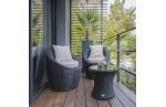 Salon de jardin 2 places TOTEM PORTOVECCHIO en résine tressée – GRIS