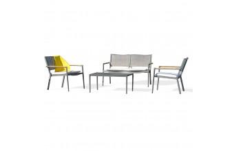 Salon de jardin aluminium et textilène, Honfleur
