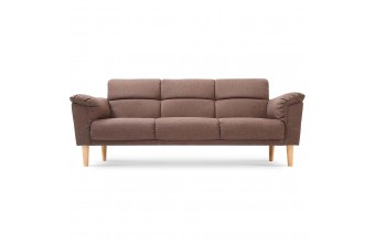 Canapé lit tissu et bois 3 places, Asgard