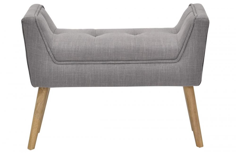 repose pieds capitonn en lin pi ce vivre. Black Bedroom Furniture Sets. Home Design Ideas